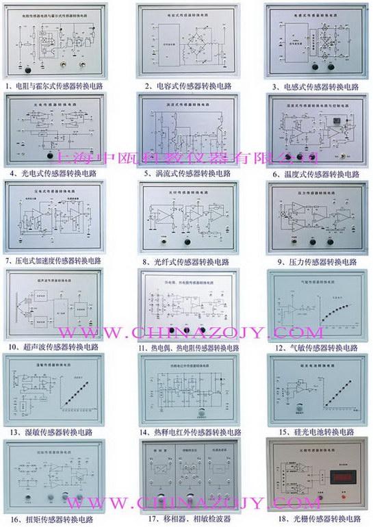 自动检测与转换传感器技术实验台,教学仪器,教学设备-上海中瓯教仪公司