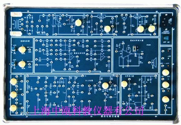 SZJ-125型 模拟电路实验箱 概 述    SZJ-125型模拟电路实验箱以高等工业学校电子技术基础课程教学基本要求中确定的教学实验要求为基础,包括了模拟电子技术基础课程全部实验内容,是专为各大专院校、中等专业学校和电大、职大等学生学习电子技术、电子线路等课程开发的最新型实验设备。本实验箱提供的21个实验,可供不同专业、不同层次的课程实验选择。有些实验只提供设计要求及原理图,由学生自己完成方案选择,实验步骤及记录表格等,充分发挥学生的创造性和主动性。 主要技术性能 1、电源输入:AC220V/50Hz
