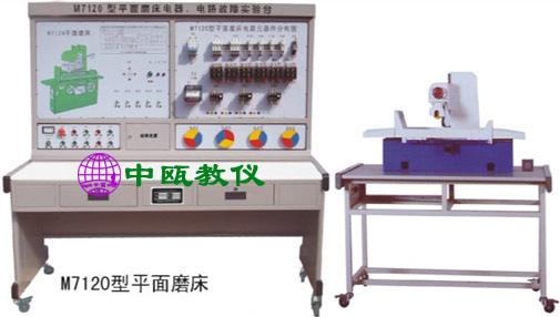 SZJ-BSW-M7120平面磨床电气技能实训考核装置(半实物)是在原M7120平面磨床电气技能实训考核装置的基础上又进一步改进和提升,它增加了M7120平面磨床仿真半实物模型,通过接口把机床电气部分和机床的实物模型连接起来,将机床的各运动过程全部展现出来,更加真实,直观,。本装置适合于维修电工初、中、高级技能鉴定中有关机床电气部分的培训考核。